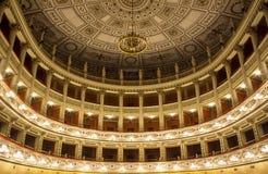 Fortune& x27; s-Theater der Stadt von Fano Lizenzfreie Stockfotografie
