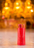 Fortune Sticks. Of Asian culture in one temple royalty free stock photo