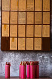 Fortune Sticks. Group of Chinese fortune sticks with the background of predictions Stock Images