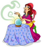 Fortune teller royalty free illustration