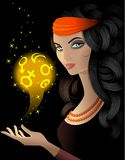 Fortune-teller 3. Fortune-teller with a magic ball vector illustration