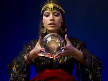Fortune-teller. With Crystal Ball Stock Photo