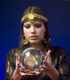 Fortune-teller. With Crystal Ball Stock Images