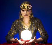 Fortune-teller. With Crystal Ball Royalty Free Stock Photos
