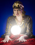 Fortune-teller. With Crystal Ball Royalty Free Stock Photo