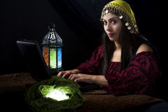 Fortune Teller with Astrology Website Stock Image