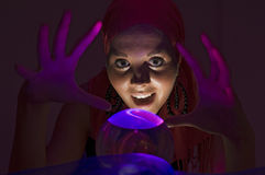 Fortune teller in blue royalty free stock photos