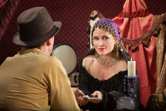 Fortune Teller with Businessman Royalty Free Stock Photo