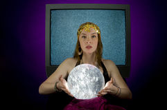 Fortune Teller with Crystal ball Royalty Free Stock Photo