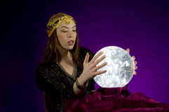 Fortune Teller with Crystal ball Stock Photography