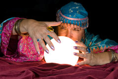 Fortune TEller and Crystal Ball Royalty Free Stock Image