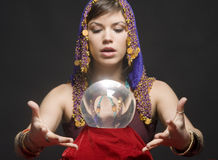 Fortune-teller with Crystal Ball royalty free stock photography
