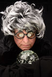 Fortune Teller and Crystal Ball Stock Images