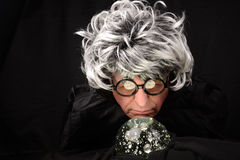 Fortune Teller and Crystal Ball Stock Image