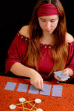 Fortune Teller Dealing Tarot Royalty Free Stock Photography