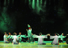 Fortune teller-The exorcism dance. In December 27, 2014, the Department of dance of the students are for the annual graduation performance report in the jiangxi Stock Photo