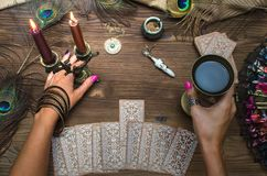 Tarot cards. Stock Photos