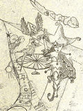 Fortune teller royalty free illustration