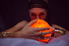 Fortune teller forecasting the future Stock Photography