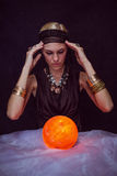 Fortune teller forecasting the future Royalty Free Stock Photo