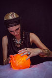 Fortune teller forecasting the future Royalty Free Stock Images