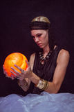 Fortune teller forecasting the future Royalty Free Stock Image