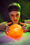 Fortune teller forecasting the future Stock Image