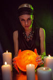 Fortune teller forecasting the future Royalty Free Stock Photography
