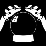 Fortune teller hands with crystal ball Stock Images
