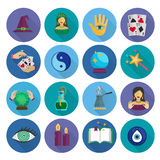 Fortune Teller Icons Flat Stock Photos