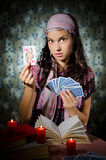 Fortune-teller predicting the future Stock Images