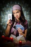 Fortune-teller predicting the future Royalty Free Stock Image
