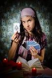 Fortune-teller que predicing os cartões imagem de stock royalty free
