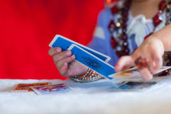 Fortune tellers cards. Particular of fortune tellers cards Stock Images