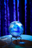 Fortune teller's Crystal Ball with dramatic lighting Royalty Free Stock Photos