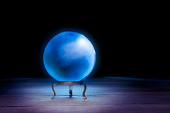 Fortune teller's Crystal Ball with dramatic lighting Royalty Free Stock Image
