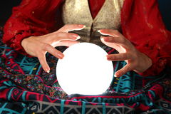 Fortune-teller's hands Royalty Free Stock Photography