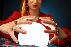 Fortune-teller's hands royalty free stock photo