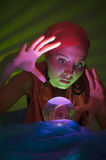 Fortune teller shocked Royalty Free Stock Images