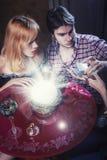 Fortune teller tarot session Stock Photography