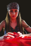 Fortune teller using crystal ball Royalty Free Stock Photo