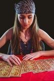 Fortune teller using tarot cards Stock Image