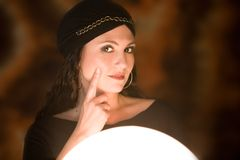 Fortune teller at work Stock Image