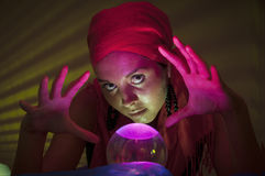 Fortune teller at work Stock Photo