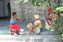 Fortune Tellers. Fortune Telling Women in the streets of Cuba stock photos