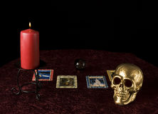 Fortune tellers table Stock Photography