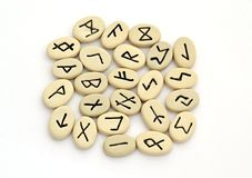 Fortune telling of the nordic runes Royalty Free Stock Images