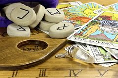 Fortune telling. Some of the most famous fortune telling accessories Stock Image