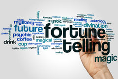 Fortune telling word cloud. Concept on grey background Royalty Free Stock Photos