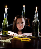 Fortune and three candles Royalty Free Stock Photography